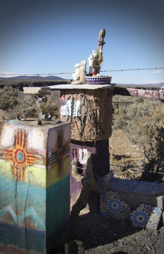 Roadside Memorial at Rio Grande Gorge Bridge