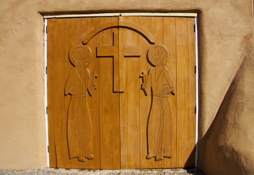 Door to community hall