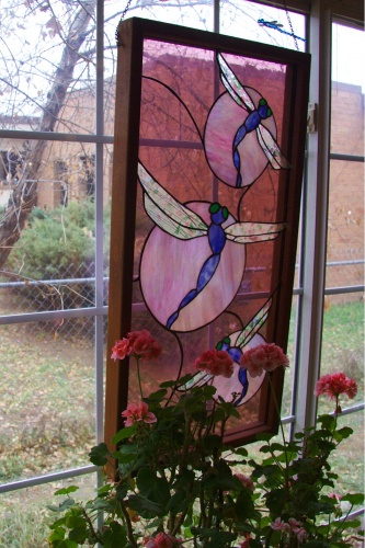 Stained glass at The Dragonfly